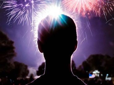 perigos dos fogos de artifício para a visão